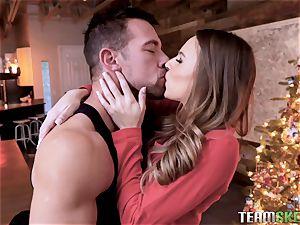 Christmas ass fucking smashing for mouth-watering Jillian Janson