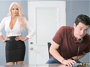 Nicolette Shea takes on Xanders ginormous large dick