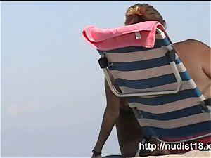 super-sexy inexperienced hidden beach cam vid a spy web cam