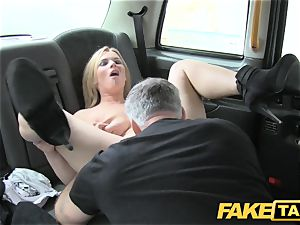 fake taxi ginormous natural hooters on blond model