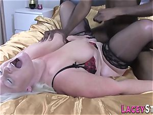 Lacey Starr Gets pulverized firm by a ebony dude