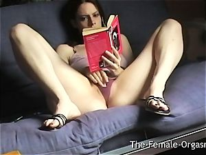 Home Alone Selfie Reading Erotica and jerking