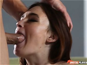 magnificent dark-haired Jodi Taylor determines to make her first fuck-fest tape