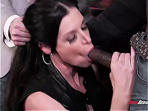 warm wife India Summer ejaculating on a black sausage