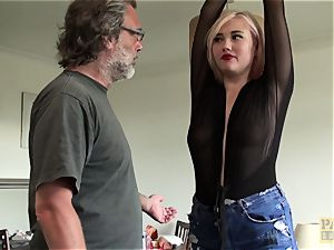gasped UK bi-atch deepthroated with faux-cock
