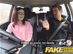 faux Driving school teen Creampied by UK teacher