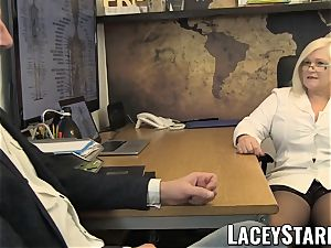 LACEYSTARR - GILF eats Pascal white jism after bang-out