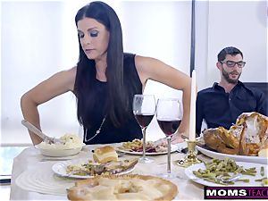 mother plows son And tongues internal ejaculation For Thanksgiving handle