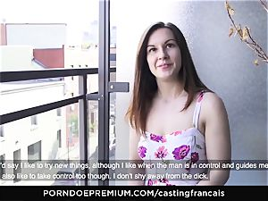 casting FRANCAIS Cowgirl shaft riding with shy newbie