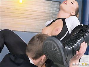 Nicole Aniston gets a facial after a rigid deep ravage