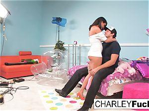 Charley haunt has some joy in this mischievous three-way