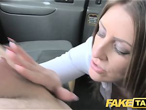 faux taxi office damsel in tights ass licking buttfuck intercourse