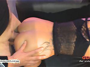 naughty tatted mummy guzzles jism - German Goo damsels