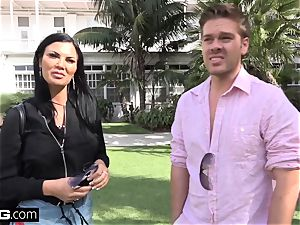 Jasmine Jae brings her fellow toy along for a point of view drilling