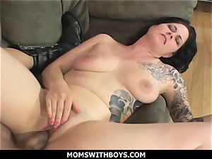 MomsWithBoys - humungous jugged mummy Michelle Aston And A meaty man sausage