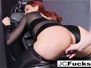 Jayden is nailed by Samantha's strap-on
