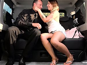 screwed IN TRAFFIC - sex in the car with Czech beauty