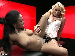 tough Kathia Nobili shoves her cable on penis deep down her partner facehole