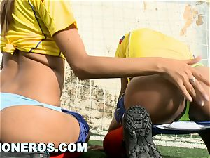 CULIONEROS - gorgeous Latina Soccer Players with big bums