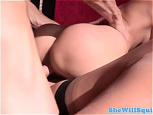 big-chested stunners squirting in 3some