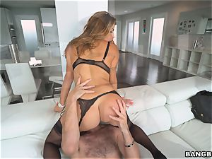 steaming bootie Julianna Vega inserted stiff