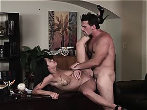 Selena Rose the office bitch helps her chief release the jizm