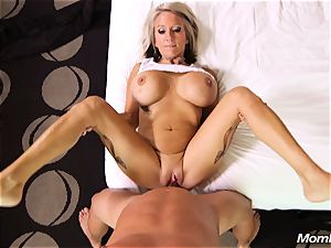 yam-sized fun bags mummy gets anal invasion ravage and facial