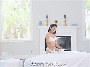 PASSION-HD Nuru cascading rubdown pound with asian muff