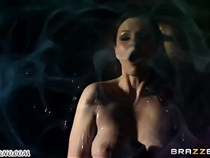 Tina Kay - A flawless evening with huge-chested stripper