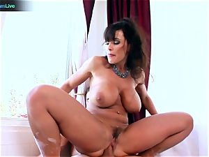 Lisa Ann likes sitting into Toni Ribas hefty prick