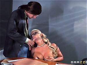 Phoenix Marie getting squirted with cum by Danny D