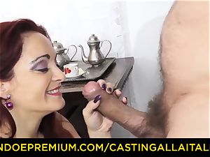 casting ALLA ITALIANA - huge-titted novice goes for ass fucking romp