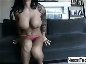 Mason playing with her labia