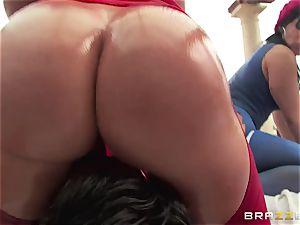 assfuck lovemaking with trio insane big bootie beotches Krissy Lynn, Nikki Delano and Rose Monroe