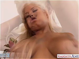 frisky Bridgette B drilled in undergarments before a great adorning