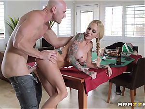 Sarah Jessie pounding her husbands poker pal
