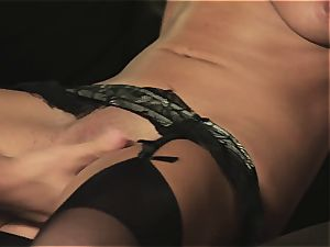 Maid in undergarments gets gash pumped