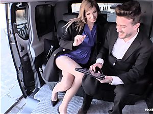 humped IN TRAFFIC - super-steamy car bang-out with nasty Czech honey
