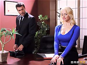 Sarah Vandella caught being kinky in the office
