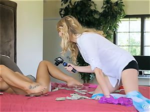 August Ames and Kenna James getting appetizing on webcam