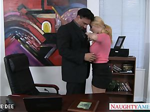 astounding Sophie Dee porking in the office