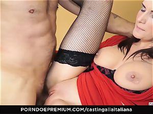 casting ALLA ITALIANA - big-chested dark-haired loves moist anal invasion