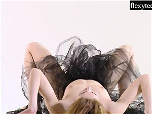 cool woman displays her impressive gymnastic talents