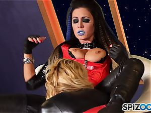 Minge munchers Jessica Jaymes and Cherie Deville get kinky on this space mission