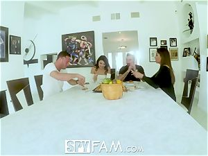Spyfam Thanksgiving hook-up with Anissa Kate