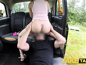 faux taxi Skipping school for backseat intercourse in cab