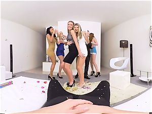 VR porn- group pulverize MERRY XXX-MAS AND ONE fuck-stick PART two