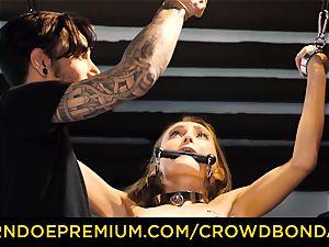 CROWD restrain bondage puny victim nympho fetish group fuckfest