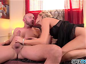 Spizoo - handsome Jessa Rhodes is plumbed by a meaty cock