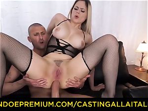 audition ALLA ITALIANA - buxom Italian towheaded bootie torn up
